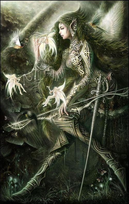 elfe avec  petites fée