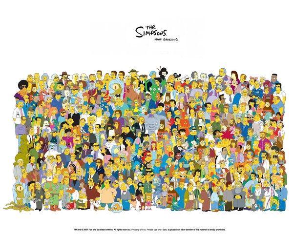 Tout les personnages des Simpson
