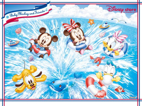 Free Disney Summer Wallpaper: Fonds Ecran Mickey Et Minnie