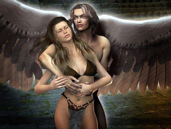 dans fond ecran d'anges couple a105f5c4